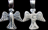 Ancient Greek Owl Charm Reproduction, Stering Silver